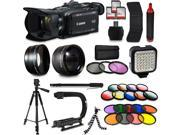 Canon XA35 HD Professional Video Camcorder + Mega Accessory Kit with Macro and Telephoto Lenses + Filters + LED + More 9SIAB925TX4524