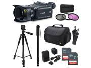 Canon XA30 HD Professional Video Camcorder + Accessory Kit with 128GB Memory + Tripod + Monopod + Bag + Extra Battery 9SIA04D3Y40238