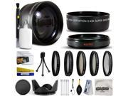 10 Piece Ultimate Lens Package For the Sony HDR-PJ650, PJ430 Includes .43x High Definition II Wide Angle Macro Fisheye Lens + 2.2x HD AF Telephoto Lens + Pro 5