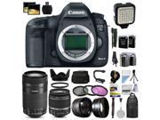 Canon EOS 5D Mark III 22.3 MP Full Frame CMOS Digital SLR Camera with EF 24-105mm f/4 L IS USM Lens with 32GB Memory + Large Case + Tripod + Video Light + 2 Bat 9SIAB926484005