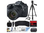 Canon EOS 7D 18 MP CMOS Digital SLR Camera with 18-135mm f/3.5-5.6 IS UD Lens with 16GB Memory + Large Case + Tripod + Card Reader + Card Wallet + HDMI Mini Cab 9SIA04D28V3631