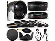 10 Piece Ultimate Lens Package For Sony Cybershot DSC-RX10 HVR-V1U HVR-V1N HDR-FX7 HVR-V1N Camera Includes .43x Macro Fisheye + 2.2x Extreme Telephoto Lens + Pr