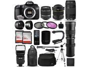 Canon EOS 60D Digital SLR Camera with EF-S 18-55mm and EF 75-300mm Lens, 2x 64GB SD Card, 72