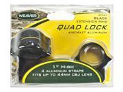 Weaver Rings Quad-Lock, 1in. High, Extended Black