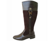 Anne Klein Womens Carloe Wide Calf Boot Shoe