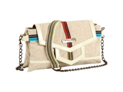 Nicole Lee Chase Striped Crossbody Bag
