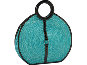 Magid Milan Straw Top Handle Bracelet Round Bag