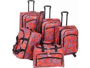 American Flyer Paisely 5-Piece Luggage Set Spinner