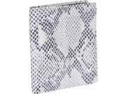 Leatherbay Italian Leather Snake Print Large Bi-Fold