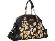 Nicole Lee Tilly Beaded Flowers Satchel Bag