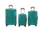 Rockland Luggage Snow Leopard 3 Pc Polycarbonate Luggage Set