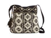 Scully Shoulder Bag with Geometric Aztec Print