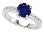 Original Star K(TM) Round 7mm Created Sapphire Engagement Ring