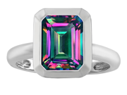 Original Star K(TM) 9x7mm Emerald Cut Octagon Solitaire Engagement Ring With Mystic Topaz
