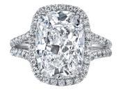 Ryan Jonathan GIA Certified Cushion Diamond Engagement Ring in Platinum (2.77 cttw, F/VS)