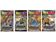 Free the five abusive Majin Main Personalities: Majin Vegeta, Babidi, Pui-Pui, Dabura, and Yakon! Unleash the magic of Babidi or beat it down hard! All new effects and foils are ready for your decks.  Each pack contains 12 card that can be used in the Dragonball Z Trading Card Game.