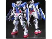 """Bandai offers up a limited initial production run of this much-anticipated MG Gundam Exia Ignition Mode snap-fit plastic kit at a special price of just 5,000 yen (original retail price set at 6,500 yen)! Not only can Gundam Exia be built with a light-up GN Drive (two LED units are included to light up its chest and back) with this Ignition Mode release, but also, it comes with """"repair parts"""" to build the battle-damaged Mobile Suit as seen in the first episode of the second season of """"Gundam 00""""! Shiny silver-coating blades for its GN Long Blade, GN Short Blade, and GN Sword are included, too!  The popular machine comes sharply molded in color and incredibly flexible upon completion"""