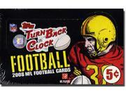 2008 Topps Turn Back Clock NFL Trading Cards Box