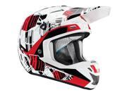 Thor MX Verge Block Men's MotoX Motorcycle Helmet - White/Red / Medium