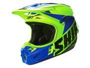Shift Racing Assault Men's Off-Road Motorcycle Helmets - Yellow/Blue / Small