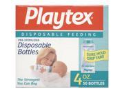 Playtex Pre Sterilized Disposable Bottles 4 oz 50 bottles each Pack of 2
