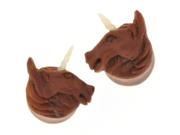 "Pair of Sabo Wood Unicorn Plugs: 7/16"""