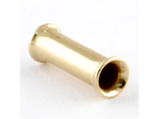 """One PVD Stainless Steel Double Flared Eyelet: 6g, 3/8"""" wearable area, Gold (SOLD INDIVIDUALLY. ORDER TWO FOR A PAIR.)"""