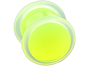 "One Acrylic Glow in the Dark Plug: 7/16"", Green (SOLD INDIVIDUALLY. ORDER TWO FOR A PAIR.)"