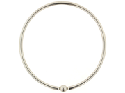 """One Stainless Steel Large Diameter Captive Bead Ring: 8g 2-1/2"""" (SOLD INDIVIDUALLY. ORDER TWO FOR A PAIR.)"""