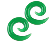 Pair of Glass Spirals: 8g Emerald