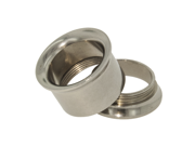 """One Stainless Steel Double Flared Threaded Flesh Tunnel: 9/16"""" (SOLD INDIVIDUALLY. ORDER TWO FOR A PAIR.)"""