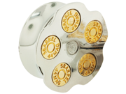 """One Stainless Steel Double Flared Spinning Bullet Chamber Plug: 1"""" (SOLD INDIVIDUALLY. ORDER TWO FOR A PAIR.)"""