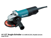 9557PB 4-1/2-in Paddle Switch AC/DC Angle Grinder