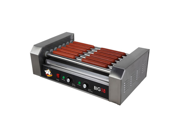 Roller Dog Commercial 18 Hot Dog 7 Roller Grill Cooker Machine - RDB18SS 9SIA05F0186112