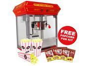 FunTime 4oz Theater Style Tabletop Popcorn Popper Machine Maker + Starter Pack