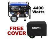 DuroMax 4400 Watt Portable Electric Gas Power RV Generator - XP4400E With Cover