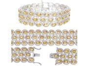Rhodium Plated Citrine Bracelet (20 CT)
