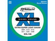 D'Addario EXL130 Electric Guitar Strings - Extra Super Light - 1 Pack