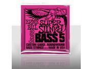 Ernie Ball 2824 Super Slinky 5-String Bass Set