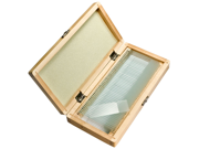 50 Prepared Microscope Slides w/ Wooden Case