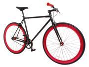 Vilano Rampage Fixed Gear Bike Fixie Single Speed Road Bike (Large 58cm) - Black/Red