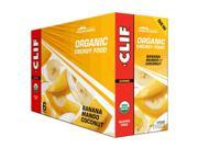 Clif Bar Organic Energy Food - Fruit Flavors - Box of 6 (Banana Mango with Coconut)