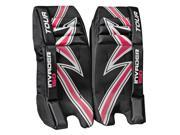 Tour Hockey Youth Invader 150 Hockey Goalie Leg Pads - G101Y (Black-White-Red - 23 Inch)
