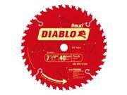 Freud 7-.25in. 40T Diablo Finish Work Circular Saw Blade  D0740A - Pack of 10