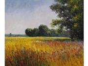 Monet Paintings: Oat Fields - Hand Painted Canvas Art