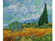 Van Gogh Paintings: Wheat Field with Cypresses - Hand Painted Canvas Art