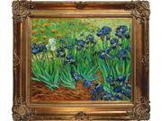 Van Gogh Paintings: Irises with Renaissance Bronze Frame - Bronze Finish - Hand Painted Framed Canvas Art