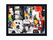 """NY 201 with 2 3/8"""" wood frame with black finish. 36"""" X 48"""" (interior dimensions) - Hand Painted Framed Canvas Art"""