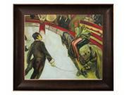 """Art Reproduction Oil Painting - At the Circus Fernando, the Rider with Veine D' Or Bronze Scoop - Bronze and Rich Brown Finish - 26.5"""" X 30.5"""" - Hand Painted Framed Canvas Art"""