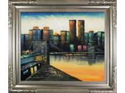 Iridescence of a New Yorker Sunset Pre-Framed - Hand Painted Canvas Art